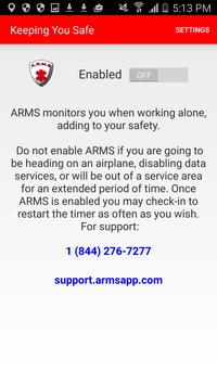 ARMS – Arms Reach Monitoring poster