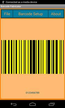 Barcode Fabricator apk screenshot