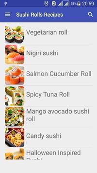 Sushi Rolls Recipes Free apk screenshot