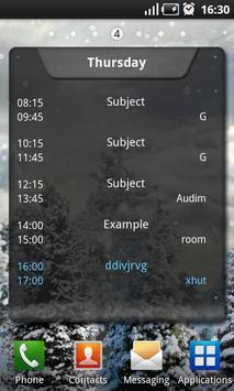 TimeTable Lite apk screenshot