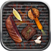 Grill Recipes Grilled Food icon