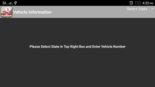 Vehicle Registration Info poster