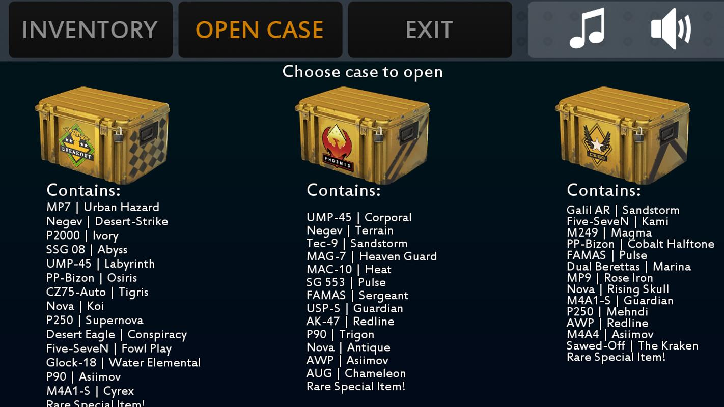 cs go all cases