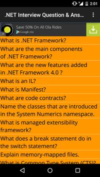.NET Interview Question Answer poster