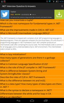 .NET Interview Question Answer apk screenshot
