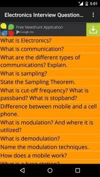 Electronics Interview Question poster