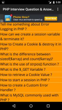 PHP Interview Question Answers apk screenshot