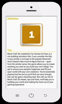 Guides for Block Craft 3D apk screenshot