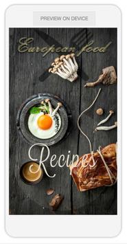 european food poster