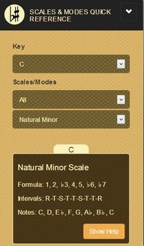 Scales & Modes Quick Reference poster