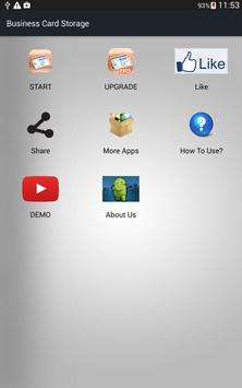 Business Card Storage apk screenshot