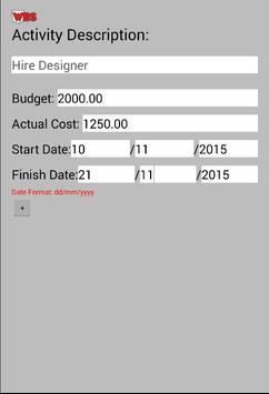 Pocket-WBS apk screenshot