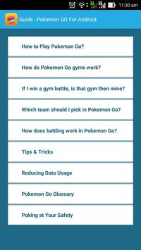 Guide - Pokemon GO for Android apk screenshot