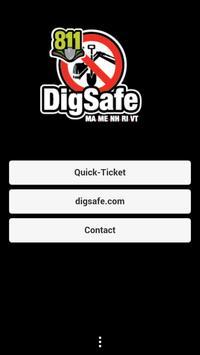 Dig Safe Quick-Ticket poster