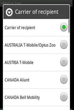 SMS for free, Email to SMS apk screenshot