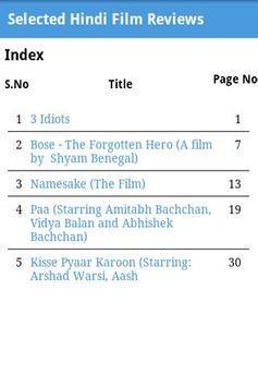 Selected HIndi Film Reviews apk screenshot
