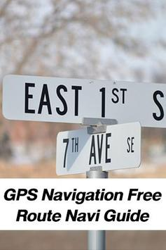 GPS Navigation Route Guide poster