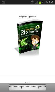 Blog Post Optimizer app poster