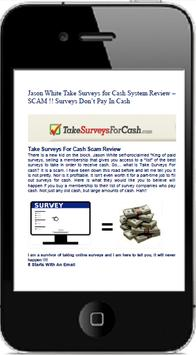 Take Surveys for Cash Review poster