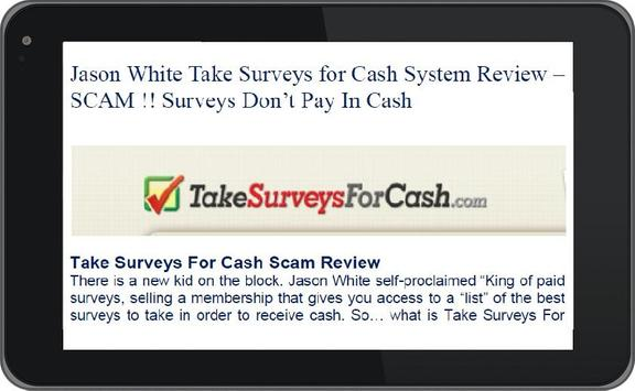 Take Surveys for Cash Review apk screenshot