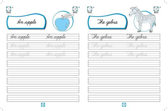 Cursive Writing Simple Words poster