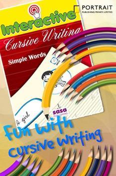 Cursive Writing Simple Words apk screenshot