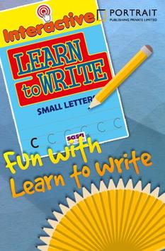 Learn to Write Small Letters poster