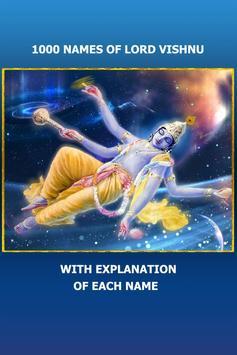 Lord Vishnu 1000 Names Meaning poster