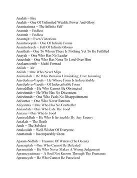 Lord Vishnu 1000 Names Meaning apk screenshot
