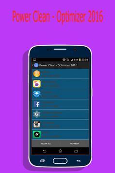 Power Clean - Optimizer 2016 apk screenshot