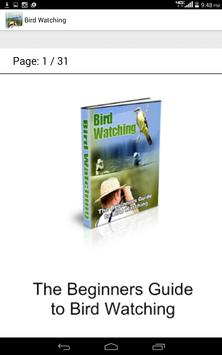 Guide to Bird Watching poster