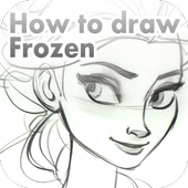 How to draw Frozen icon