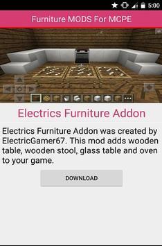 Furniture MOD For MCPE apk screenshot