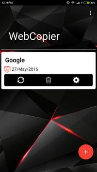 WebCopier apk screenshot