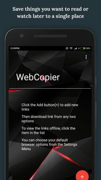 WebCopier poster
