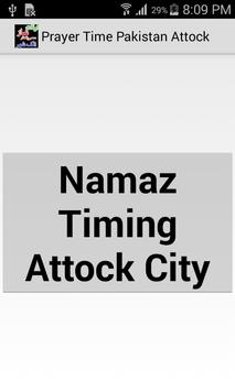 Prayer Time Attock City Pak poster