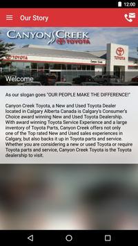 Canyon Creek Toyota DealerApp apk screenshot