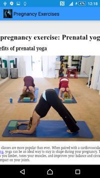 Pregnancy Exercises apk screenshot