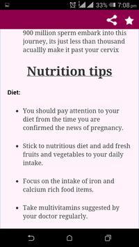 Pregnancy Tips week by week apk screenshot