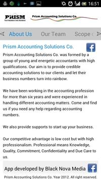 Prism Accounting poster