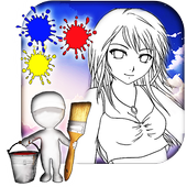 Anime Coloring Book icon