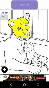Happy Zoo Coloring Book poster
