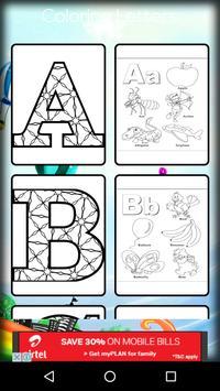 Coloring Letters apk screenshot