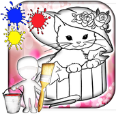 Kitty Coloring Games icon