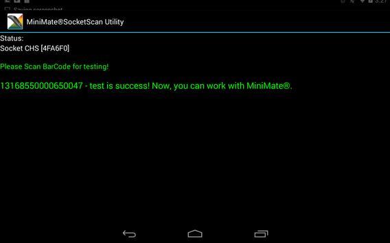 MiniMate®SocketScan Utility apk screenshot