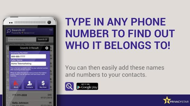 Reverse Phone Number Lookup apk screenshot