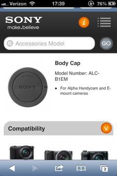 Sony DI Accessory Guide 2.1 poster