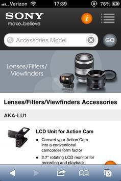 Sony DI Accessory Guide 2.1 apk screenshot