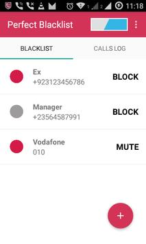 Perfect Blacklist apk screenshot