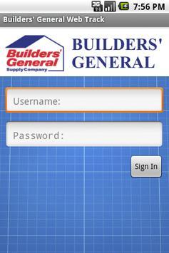 Builders' General Web Track poster